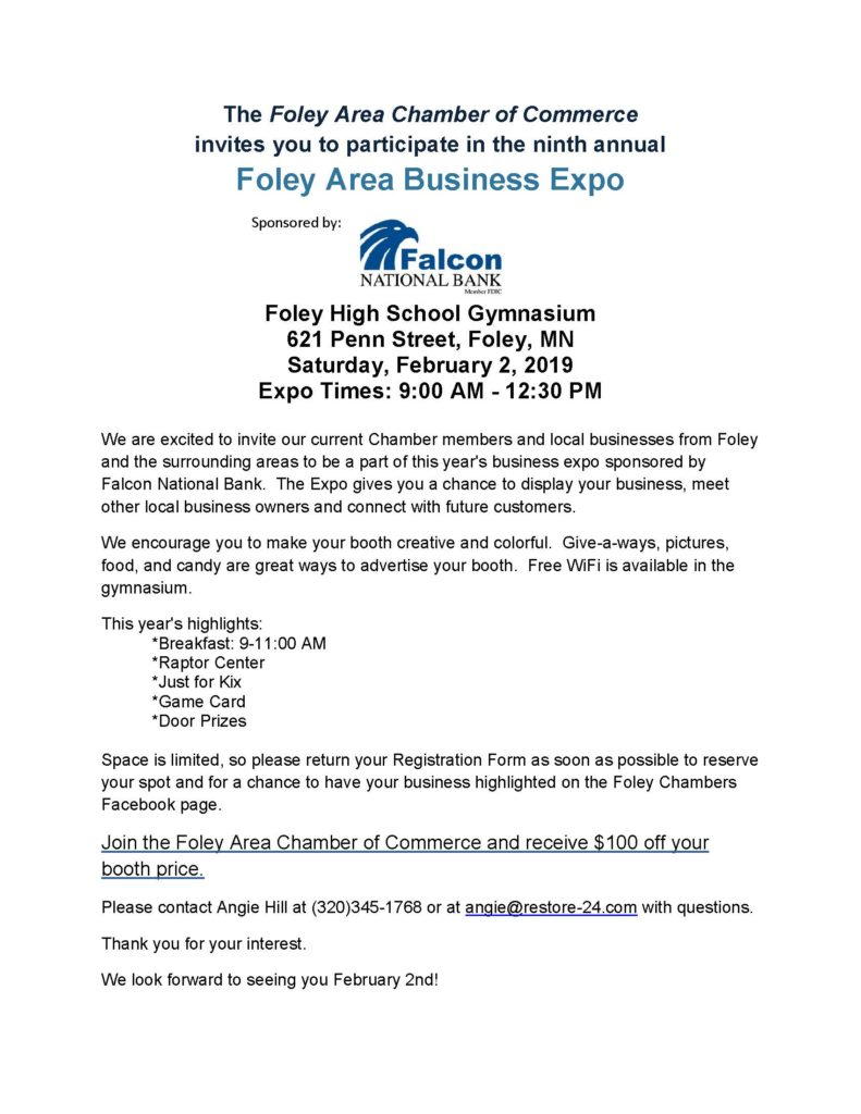 2019 Foley Area Business Expo -